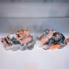 Tì hưu tài lộc đá canxite vàng cam cho người mệnh Thổ và Hỏa