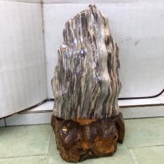 Cây đá vân xám canxite tự nhiên vân ngũ sắc