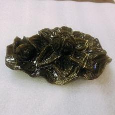 Quà tặng hoa sen cắm bút ngọc serpentine độc đáo cũng có thể dùng cho cắm nến