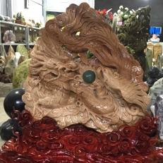 Bức rồng trạm khắc cao 120 cm
