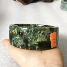 vòng tay bản vuông màu xanh lá cao 3 cm nhiều size