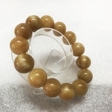 vòng tay chuỗi hạt màu Vàng nâu cho người mệnh Kim và Thổ ( đủ size hạt)