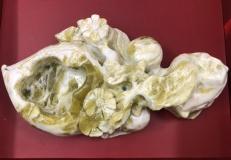 Gạt tàn ngọc hình hoa đào